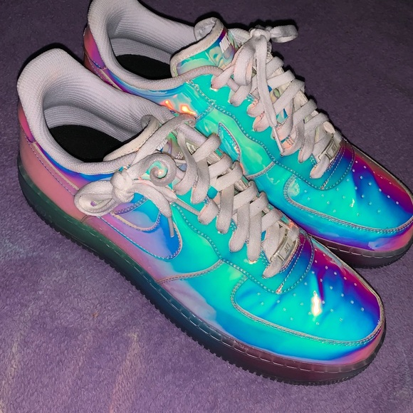 c79700052 Nike Shoes | Rainbow Holographic Air Force 1 Iridescent | Poshmark